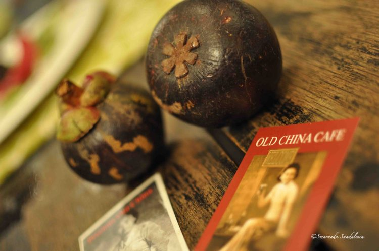 Manggis fruit - The purple mangosteen (Garcinia mangostana) at Old China Restaurant and Bar