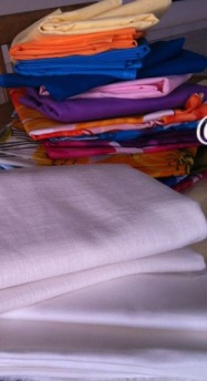 Cotton fabrics from HLM Market Dakar, ideal for making Senegalese boubous or just shirts and summer  dresses.