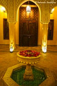 Riad Kniza, fairy tale restaurant and atmosphere.