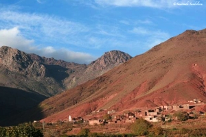 Kasbah in the Atlas  Mountains. Morocco.