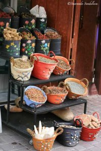 Spices in the Medina of Marrakech.